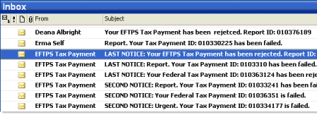fake irs emails