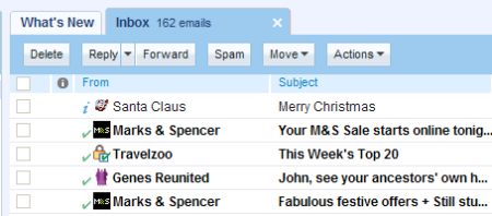 Santa in the inbox