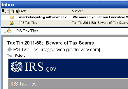 tax tips email